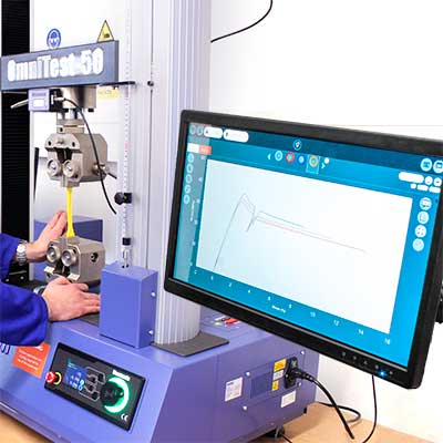 VectorPro MT is designed for materials testing with the OmniTest range