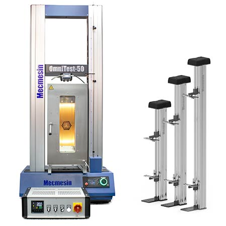 Materials testing accessories such as thermal cabinet and a range extensometers are available