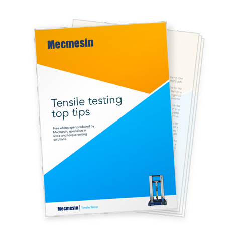 Download the free Mecmesin tensile testing tips whitepaper