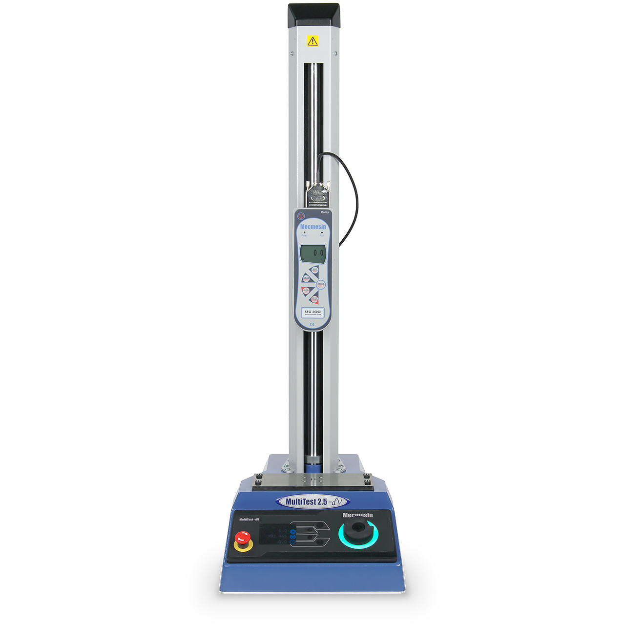 Product image of MultiTest-dV motorised force tester with Advanced Force Gauge for tension and compression testing by Mecmesin