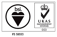 BSI ISO 9001 / UKAS Quality Management logo